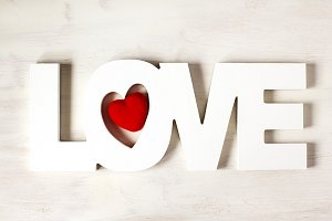 Word Love at white background