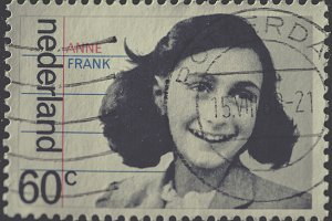 Dutch Stamp With Image Of Anne Frank