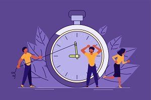 Mess And Deadline Tasks concept