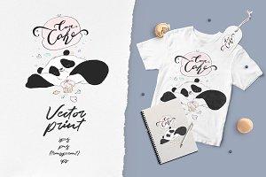 Vector Panda-Cake