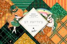 St Patrick's Day Glitter Patterns