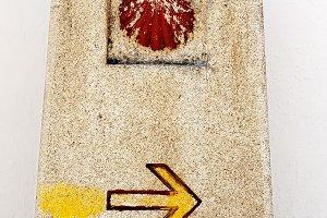 marks for pilgrims Camino Santiago