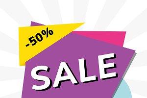 Sale 50% off shop promotion ad
