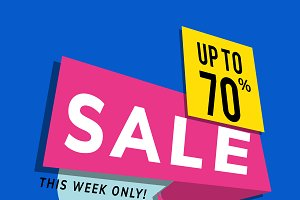 Sale up to 70% shop promotion ad