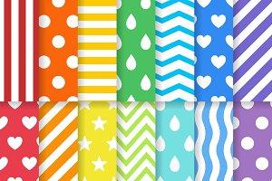 Colorful design patterns set