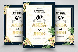 Wedding Floral Invite Templates
