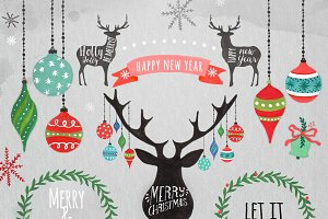 Christmas Clipart, Christmas ornamen