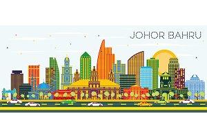 Johor Bahru Malaysia City Skyline