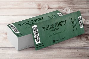 Chalkboard Event Ticket 2