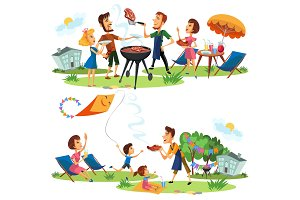 Picnic family nature and holiday