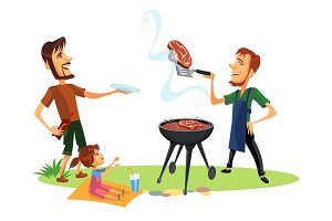 Picnic summer barbeque party poster