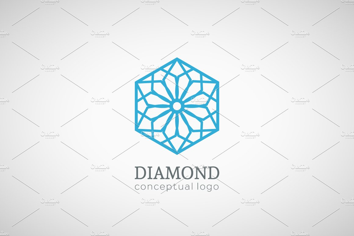 ornament logo diamond vector image royalty free