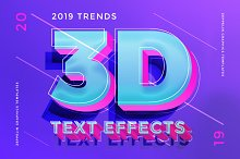 3D Text Effects 2019 Trends by  in Layer Styles