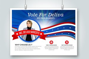 Voting Elections Flyer Card Template