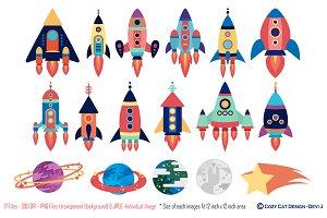 Rockets Digital Clip Art