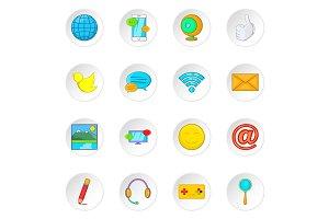 Social media network icons set
