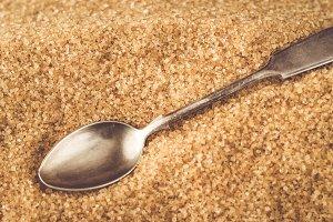 Spoon in brown sugar