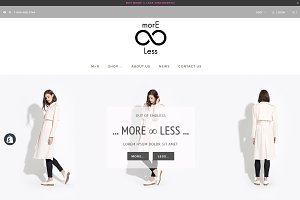morE∞Less - Shopify Theme