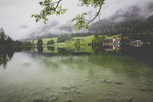 hintersee mountain lake bavaria