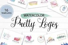 Pretty Watercolor Logos