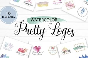 Pretty Watercolor Logos