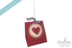 Scallop Valentine Lollipop holder
