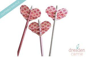 Heart Valentine pencil topper