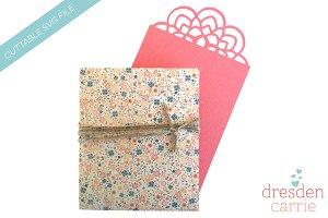 flower card with pocket envelope