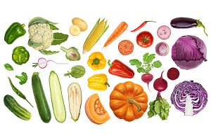 Yummy fresh juicy veggies
