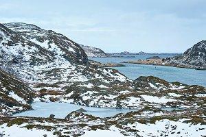 View of norwegian fjord, Lofoten