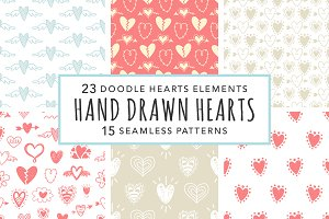 Valentine Hearts Cliparts & Patterns