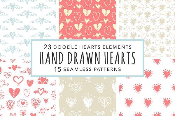 Valentine Hearts Cliparts & Pattern…
