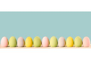 Eggs for Easter in row