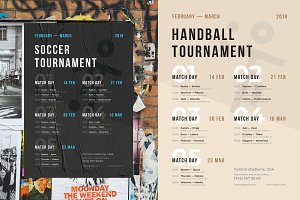 Sport Schedule Event Poster Template