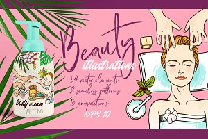Beauty and SPA illustrations