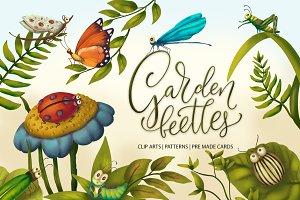 Garden beetles.