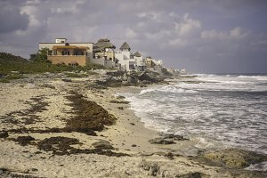 Little Houses on Isla Mujere's Beach