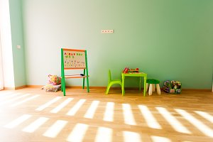 Modern playroom for children with