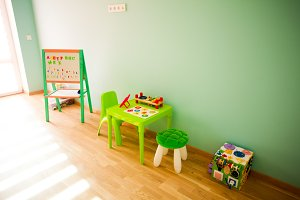 Playing and educate part of playroom
