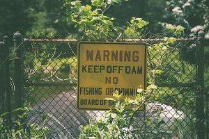 Keep off Dam