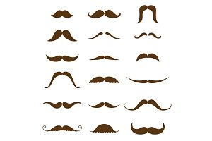 Mustache collection. Black