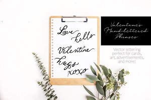 Valentine's Hand-Lettered Words