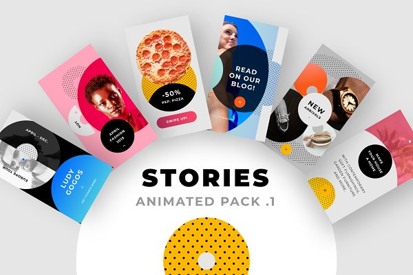 Templates: Atierte - ANIMATED Instagram Stories Pack No.1
