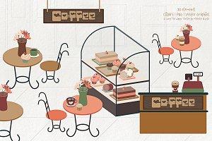 Coffee Shop 01 - Clipart & Vector