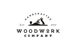 Retro Vintage Woodworking Logo