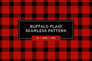 Buffalo Plaid Pattern - Hand Drawn