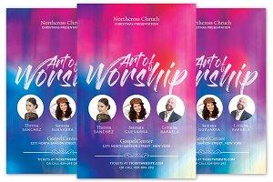 Art of Worship Church Flyer