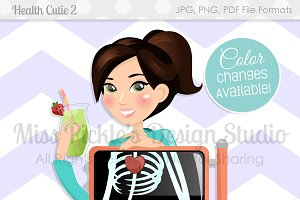 Health Cutie 2- Character Graphic