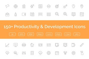 150+ Productivity & Development Icon