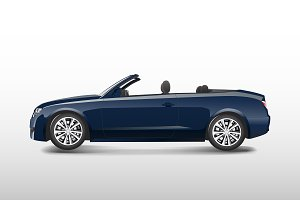 Blue convertible car isolated vector